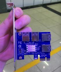 PCIE-EUX1-04 VER.002 pcie card