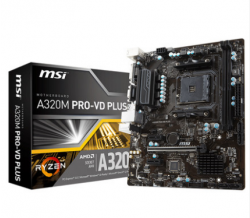 MSI A320 A320M PRO-VD PLUS PC gaming motherboard 2200G 2400G AM4 DDR4 32GB
