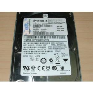 """IBM 500gb 7.2k 6Gb SAS 2.5"""" Hard Drive 42D0707 42D0708 42D0711"""