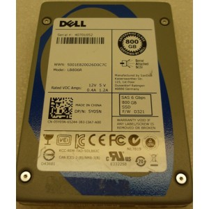 Dell Sandisk LB806R 800GB SAS 6GBPS SSD Solid State Drive Dell P/N 5Y05N