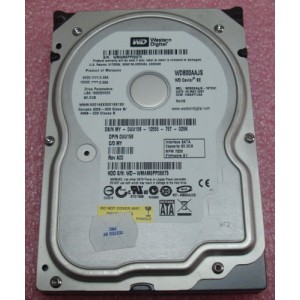 "WD 80GB 7200RPM SATA 3.5"" Desktop Hard Drives WD800AAJS"